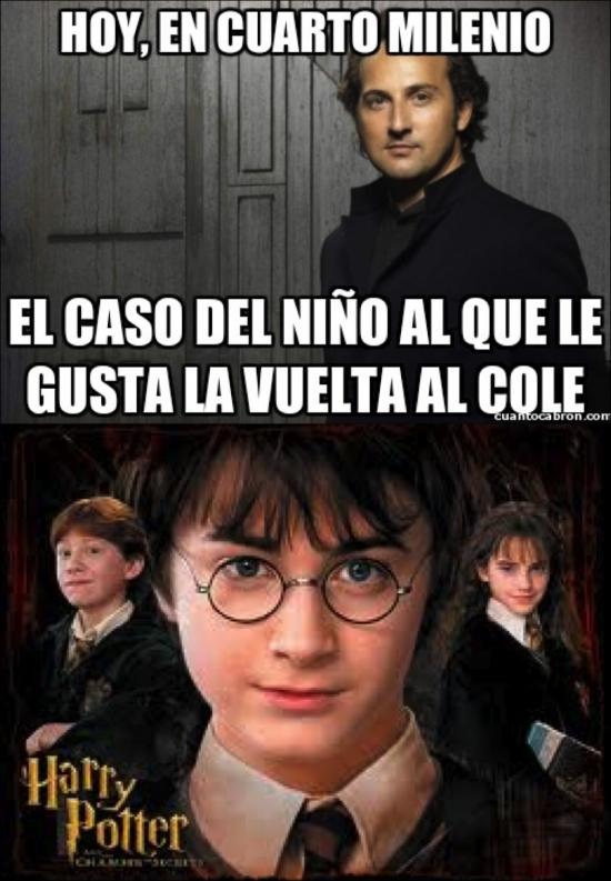 Harry potter sale en cuarto milenio!!(meme)