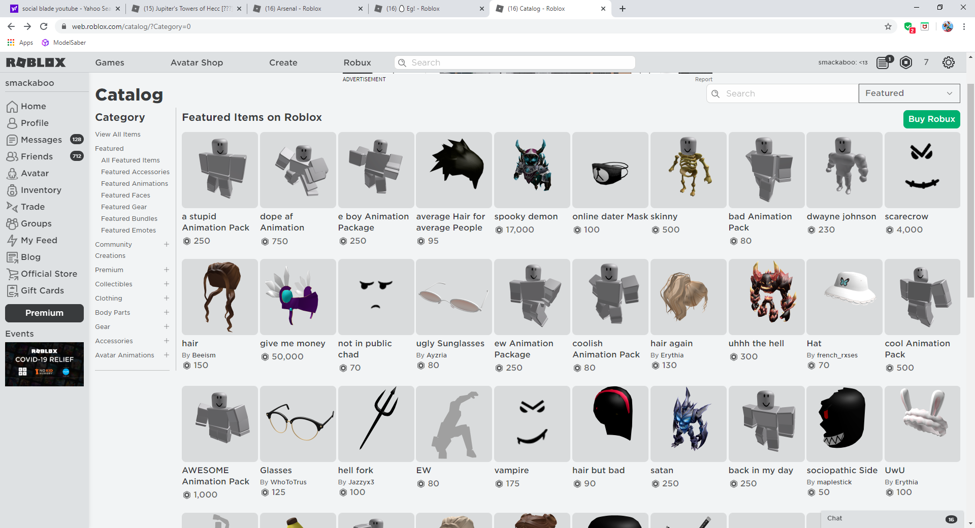 what is wrong with the roblox catalog | Fandom