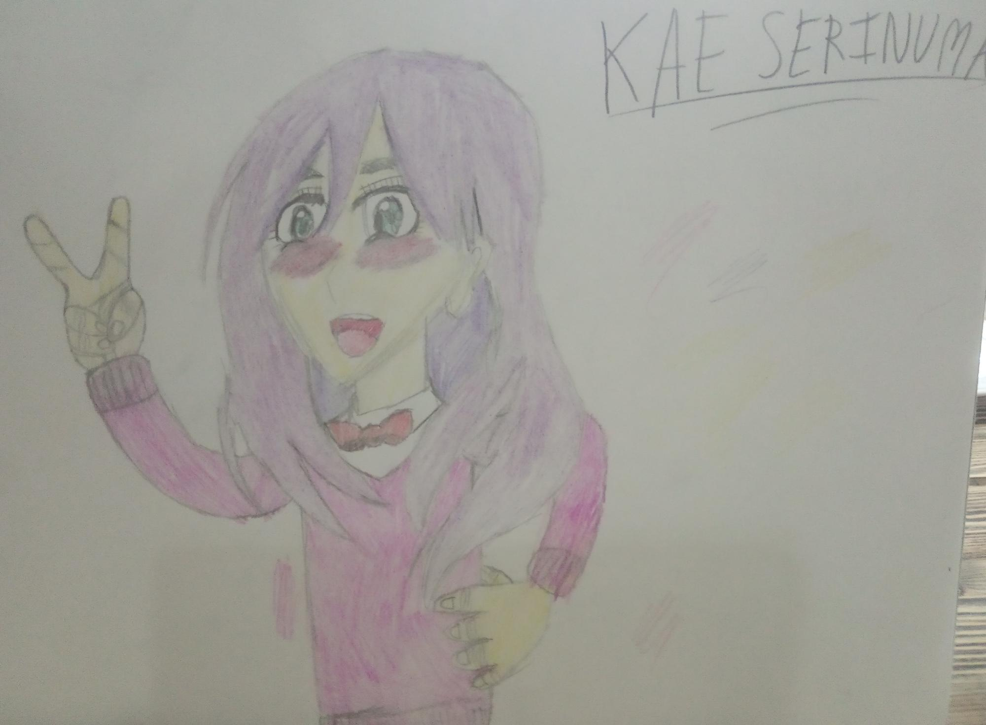 Kae Serinuma from 'kiss him not me' - What do you think? My first ever anime drawing.