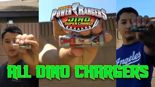 Power Rangers Dino Super Charge-All Dino Chargers Compilation