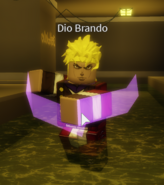 Dio Brando using his barrage.