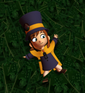 Hat kid in money