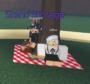 Stand Storage.