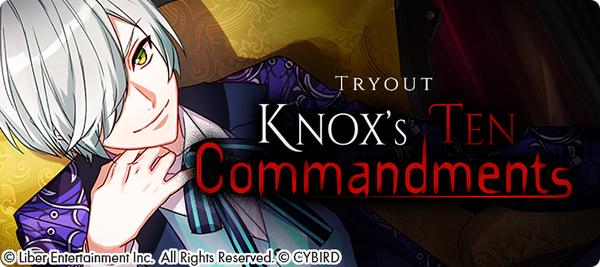 Knox's Ten Commandments Tryouts
