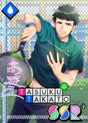 Tasuku Takato SSR Spirited Flat Serve bloomed
