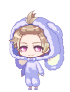 Itaru Bunny Pajamas chibi