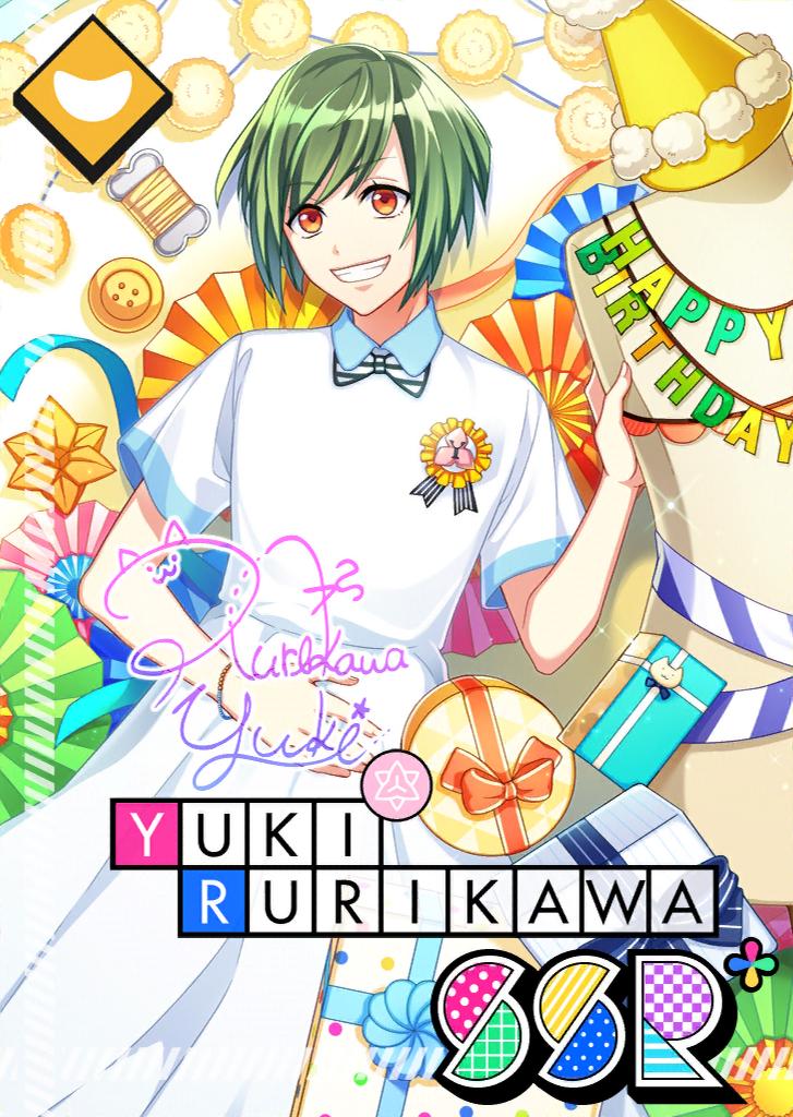 Yuki Rurikawa SSR Mankai Birthday bloomed.png