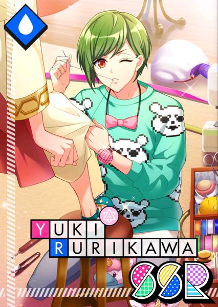 Yuki Rurikawa SSR Sewing Lullaby unbloomed.png