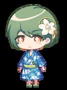 Yuki White Lily and Goldfish chibi
