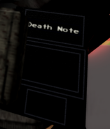 Death Note Item In Hand