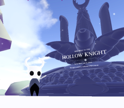 Knight next to the Hollow Knight altar
