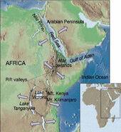 East african riftmap