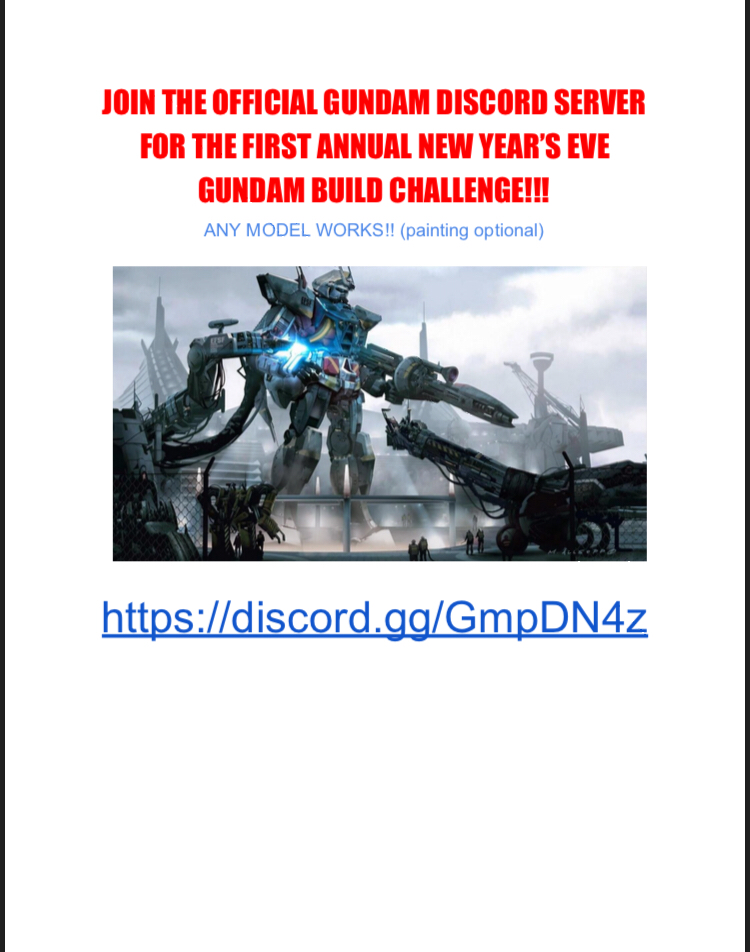 Presenting... The first event on the gundam discord