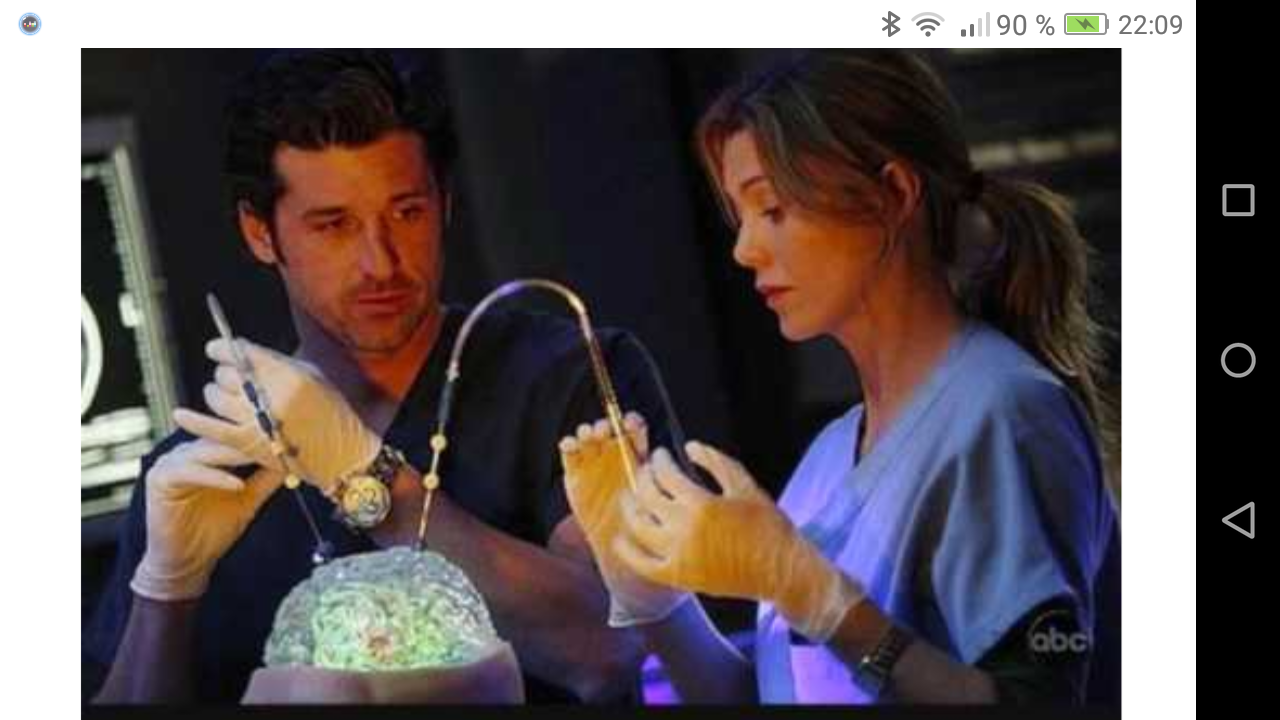 Meredith und Derek post it