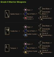 Warrior g9 weapons