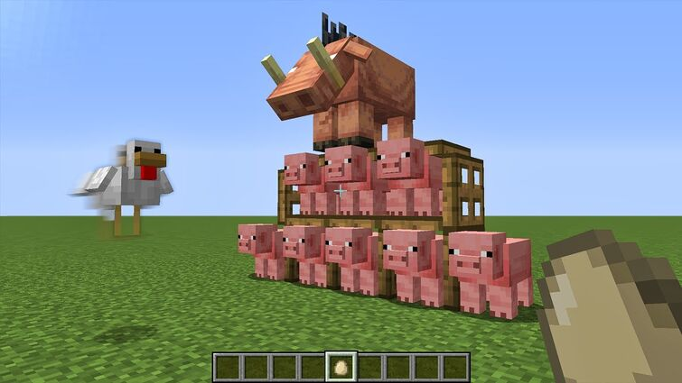 angry birds in minecraft xD
