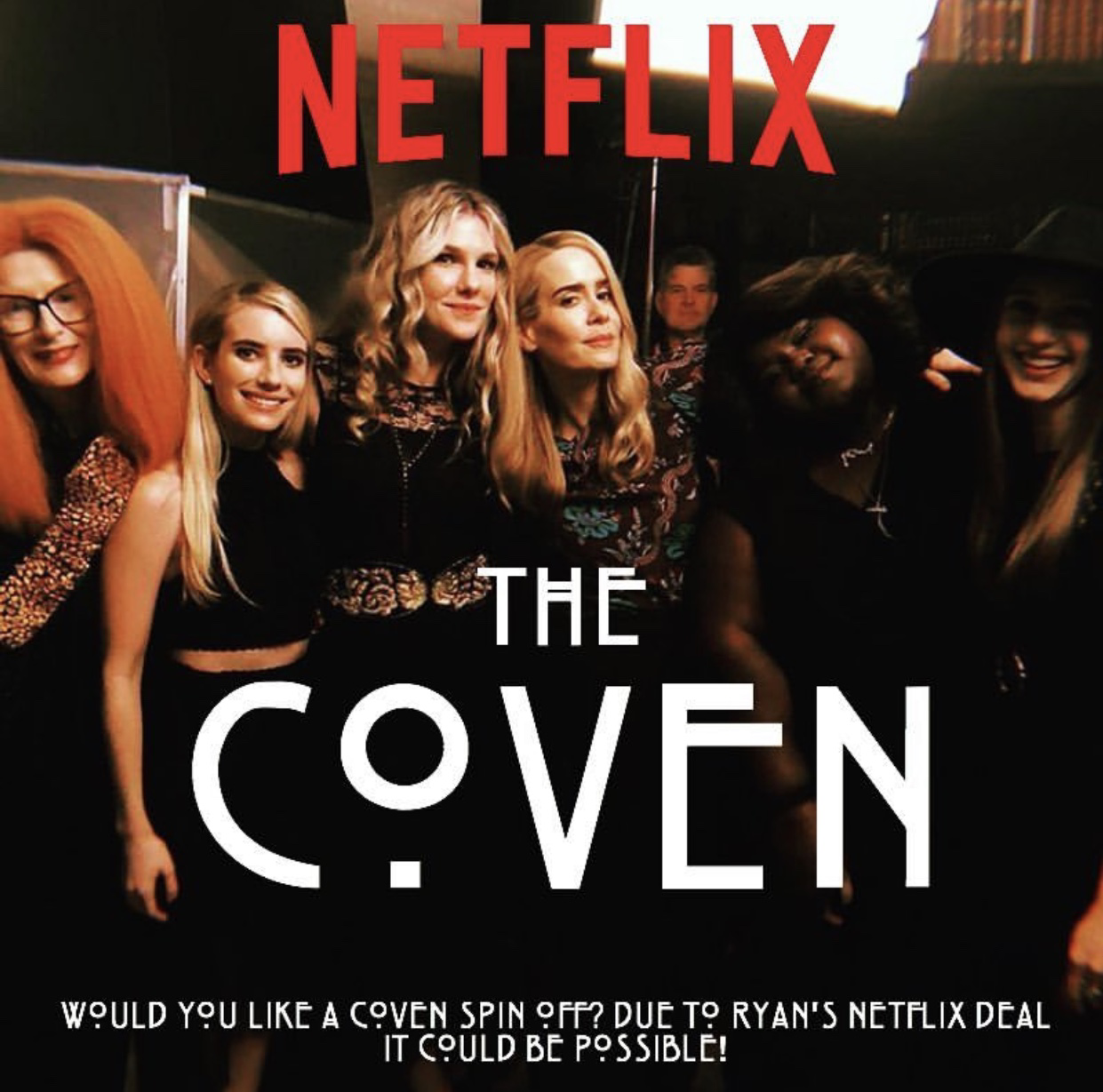 I HOPE this will be an official show someday ❤️ Since Ryan Murphy has a Netflix deal! #ahs #coven