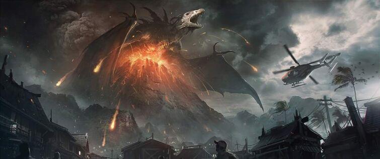 Volcan de la isla Adonoa