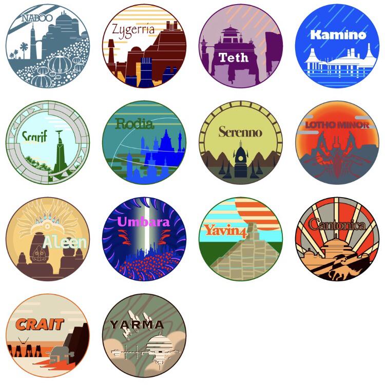 All the planet logos I made