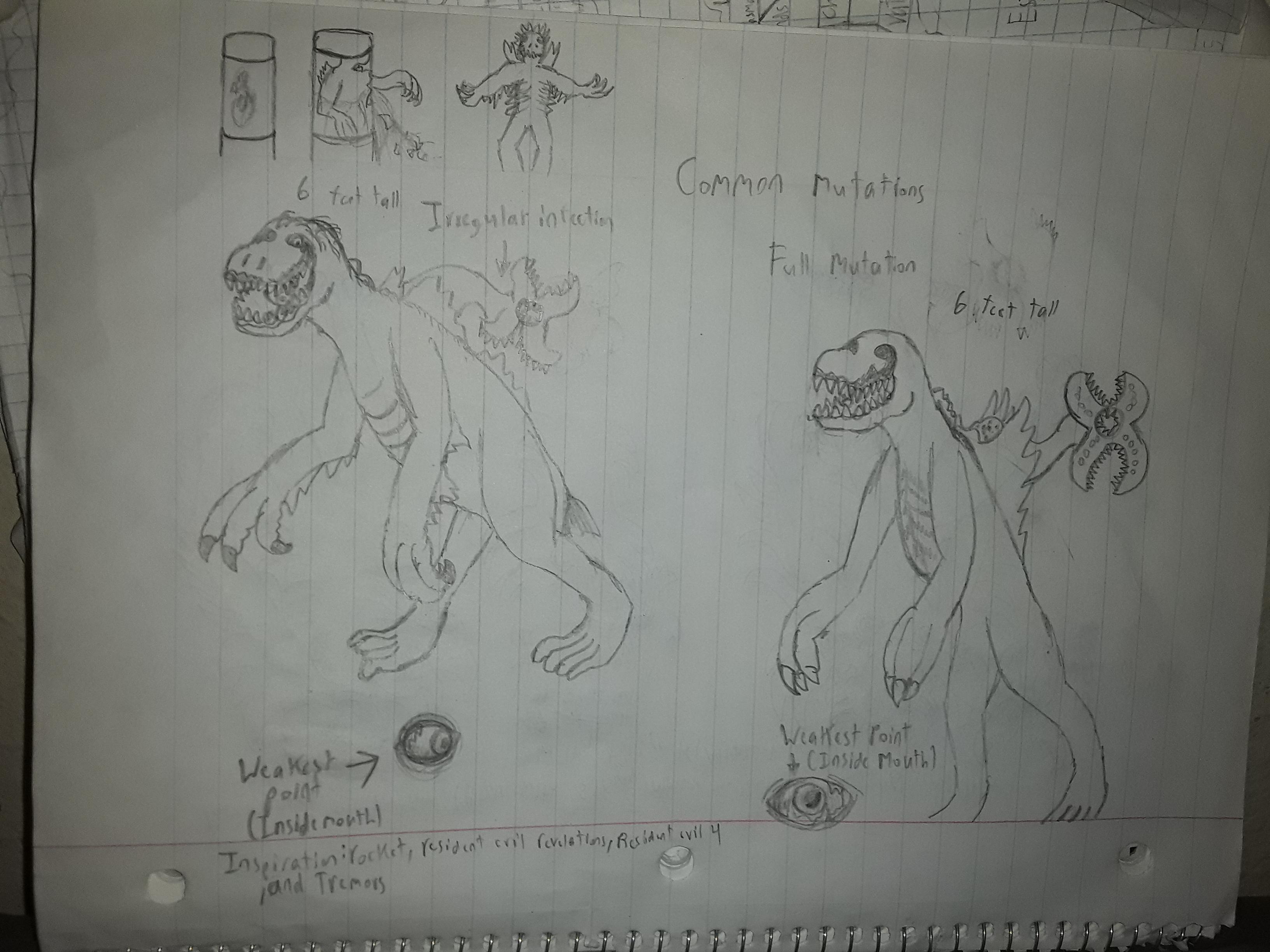 Resident Evil Inspired drawings