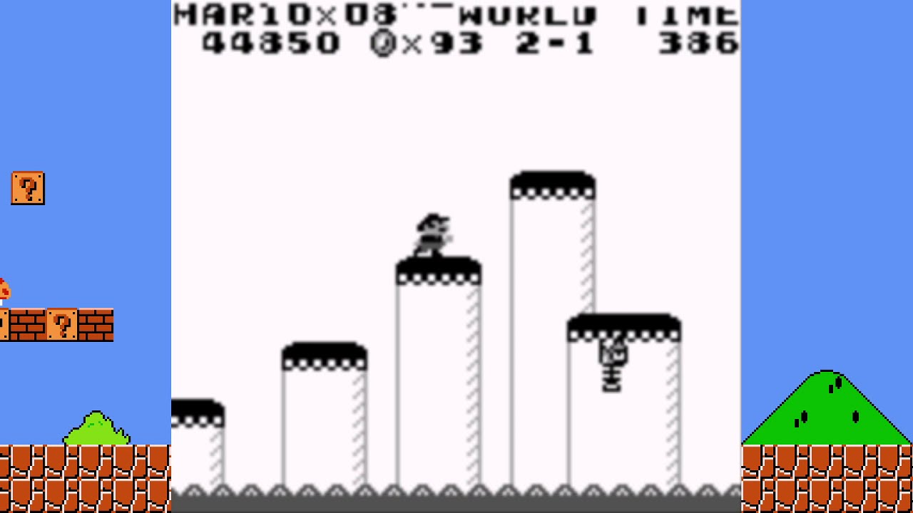 The Aliens have landed! Super Mario Land, World 2-1