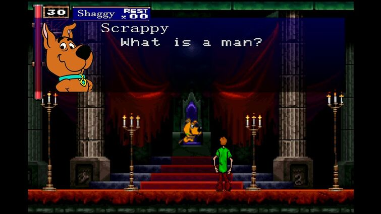 Shaggy and Scrappy Doo In The Castlevania Symphony of the Night Intro