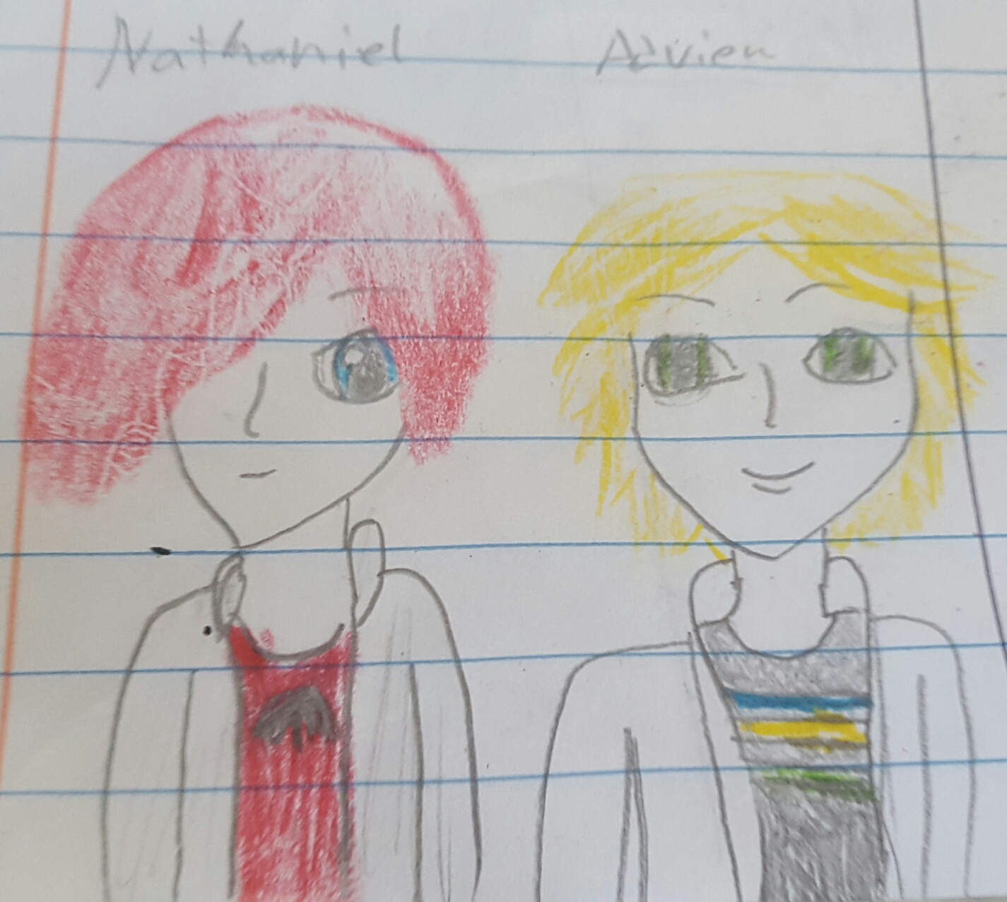 Young ❤Nathaboo❤ and Adrien!