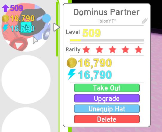 Trading Dominus Partner for Rainbow shock core.