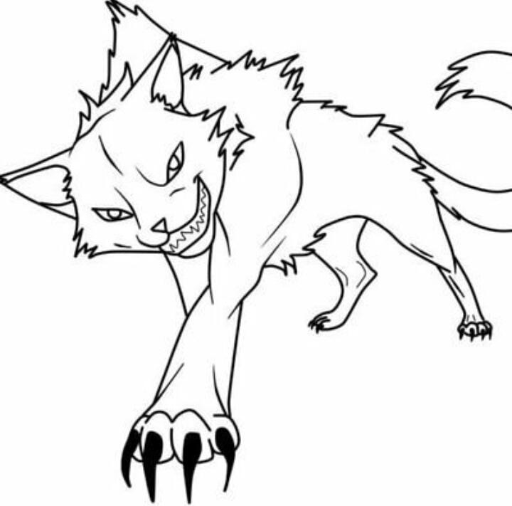 Распечатать раскраски коты воители бич