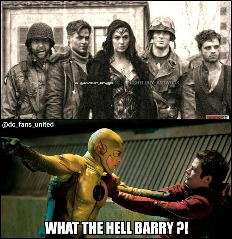 """Marvel and DC! on Instagram: """"Barry messed up big this time. 😂😂 ⠀ -⠀⠀⠀⠀ -⠀⠀⠀⠀⠀ 📌 Join the new pop culture social network at Favester where you can discuss games, TV…"""""""