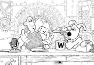 World of Invention in Wallace And Gromit Colouring