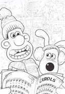 Wallace And Gromit Sing Christmas song Colouring