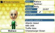 Wallace QR Code Contents