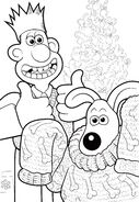 Wallace And Gromit Celebration Christmas Colouring