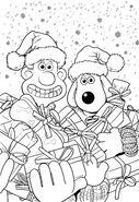 Wallace And Gromit Christmas Present Colouring