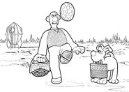 Wallace And Gromit in A Grand Day Out Colouring