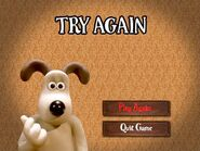 Wallace & Gromit The Curse of the Were-Rabbit Anti-Pesto S.W.A.T. Team Game Round 3 Tottington Hall Fail Screen