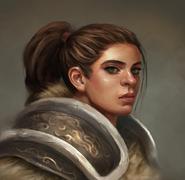 Female dwarf warrior by kenshike1-davnj08