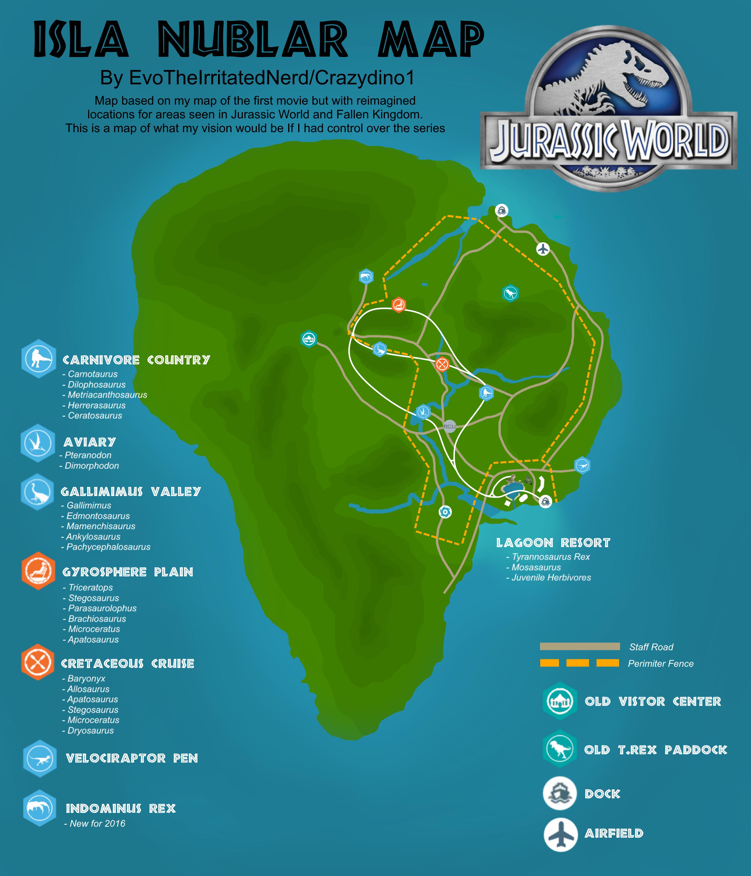 Picture of: Isla Nublar Map Jurassic World Version Fandom