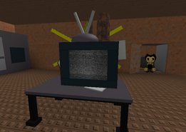 Bendy Prop in the Office (Notice the monitor is replaced by a television)