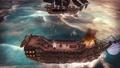 02 AbandonShip Combat Tropical Dusk ShipOnFire.png