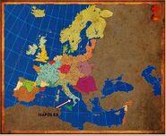 Mapa Nápoles