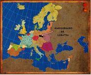 Mapa Lusatia