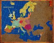Mapa Deheubarth