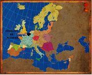 Mapa Flandes