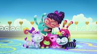 Theme 2 - Abby and Fuzzlies group hug