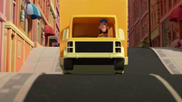 101a - Truck driving through town