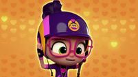 101a - Abby puts on her Head Hugging Helmet