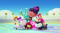 Theme - Abby and Fuzzlies group hug