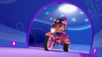 101a - Abby riding her bike in the tunnels